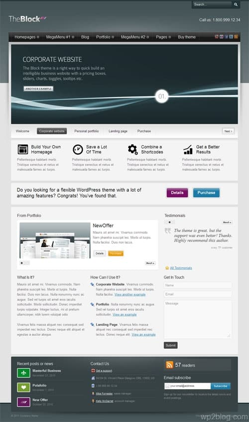 The Block Premium WordPress Theme