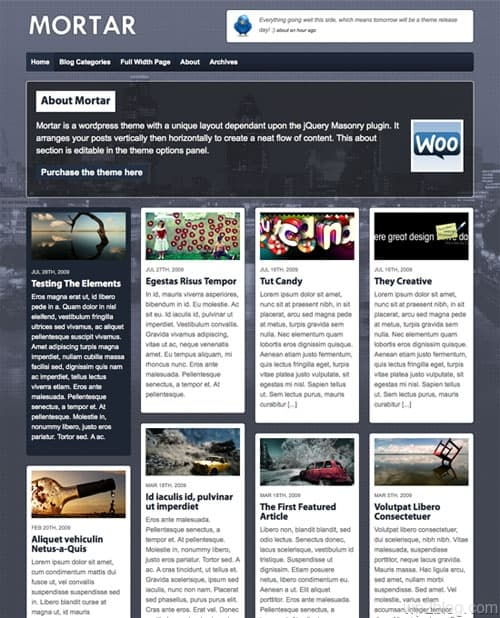 Mortar WordPress Theme