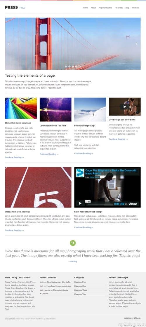 Press Two Premium WordPress Theme