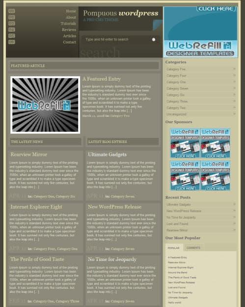 Pompous WordPress Theme