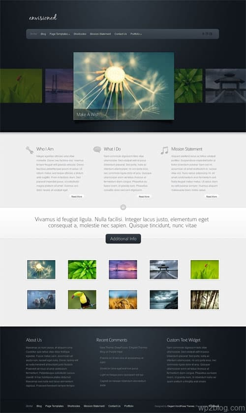 Envisioned Portfolio WordPress Theme