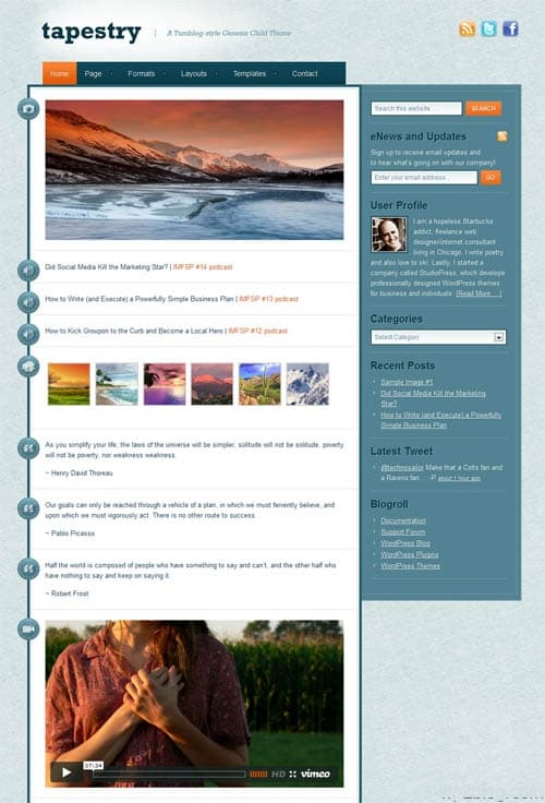 Tapestry WordPress Theme