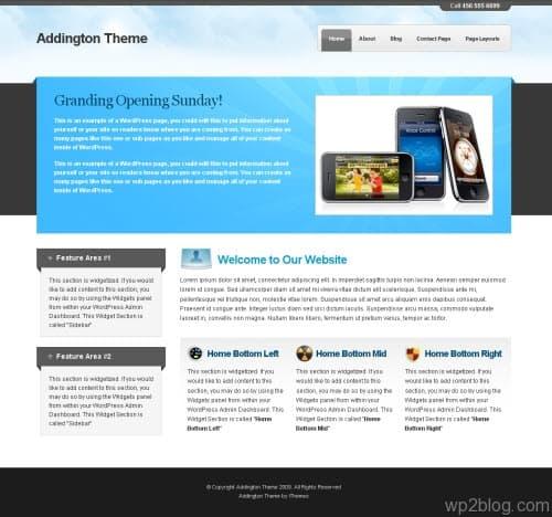 addington wordpress theme