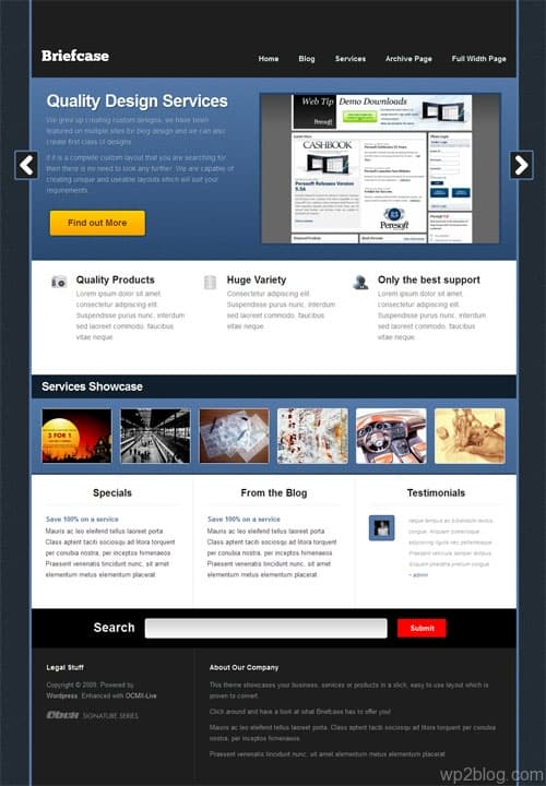 Briefcase CMS WordPress Theme