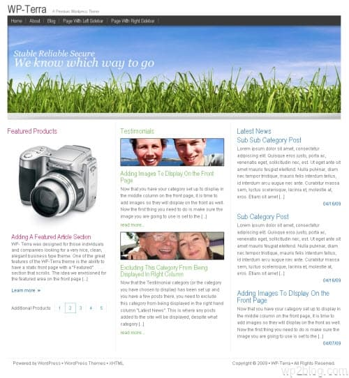 wp-terra wordpress theme
