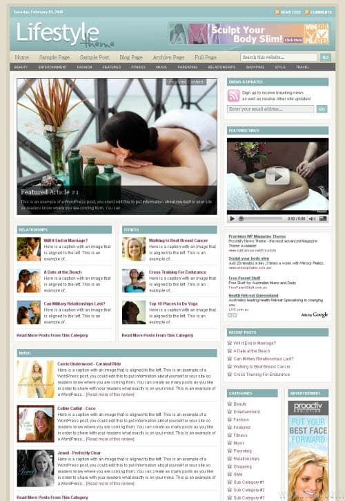 revolution lifestyle 3.0 wordpress theme