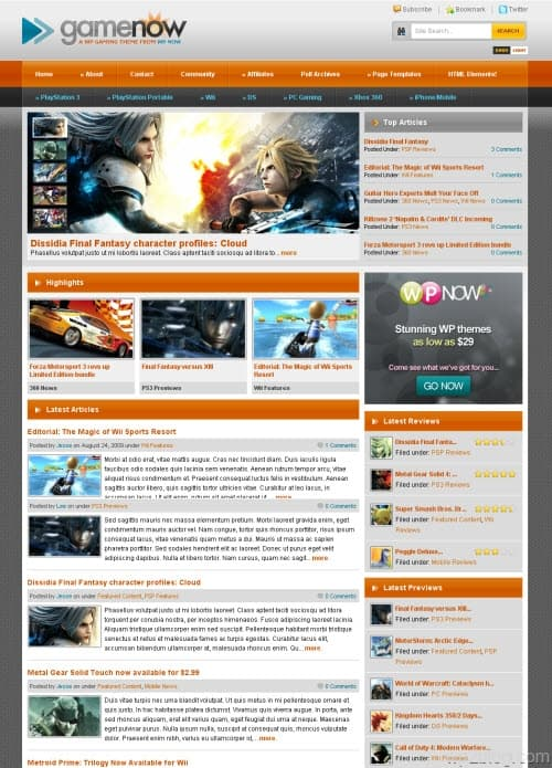 GameNow Premium WordPress Theme