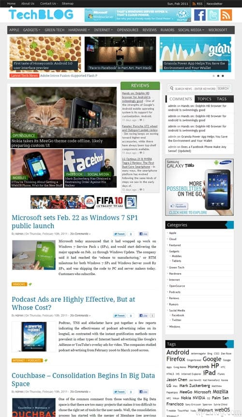Tech Blog WordPress Theme
