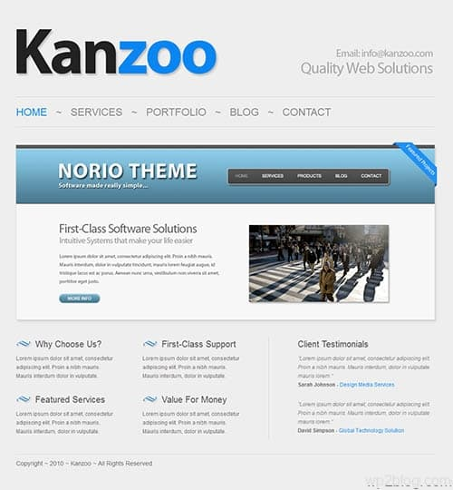 kazoo wordpress theme