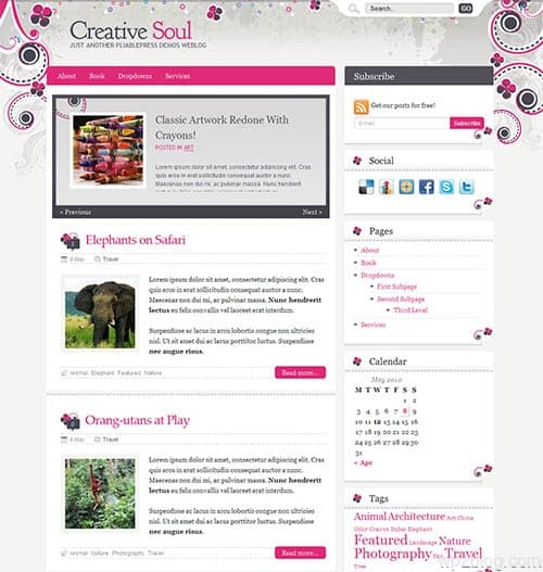 creative soul wordpress theme