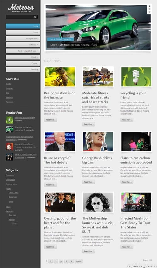 Meteora Premium WordPress Theme
