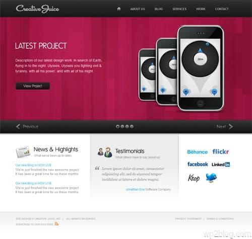Creative Juice Business WordPress Theme