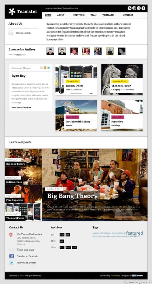 Teamster Premium WordPress Theme
