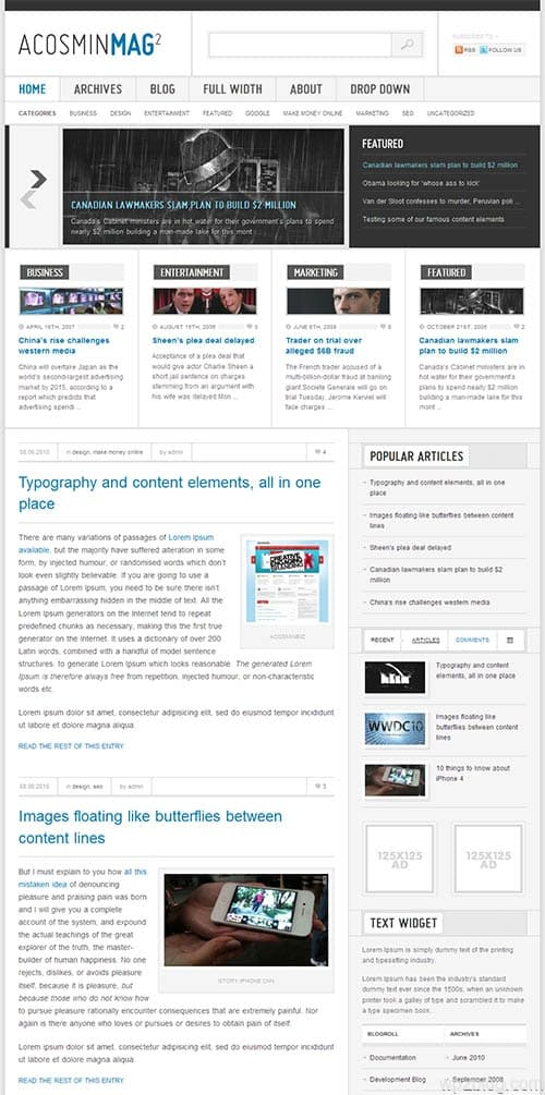 acosmin mag 2 wordpress theme