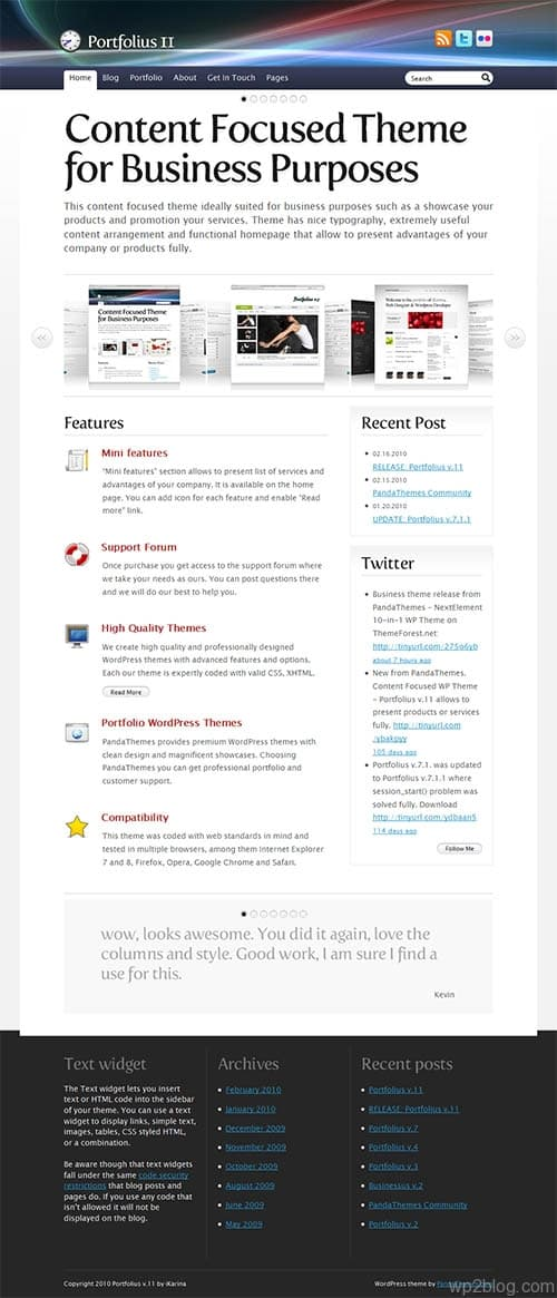 Portfolius v.11 Premium WordPress Theme