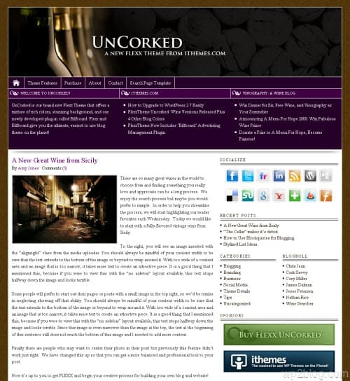 Flexx Theme Uncorked