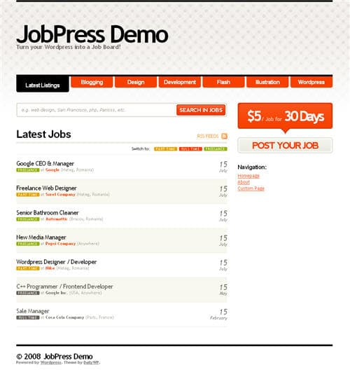 job press wordpress theme