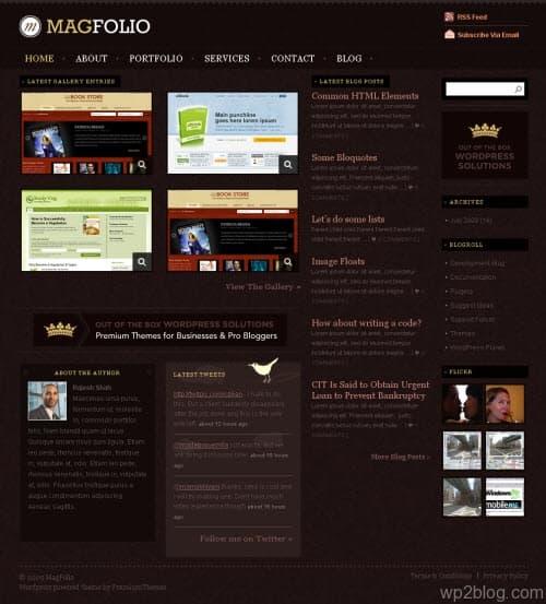 Magazine Portfolio WordPress Theme