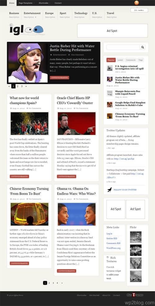 Igloo Magazine Premium WordPress Theme