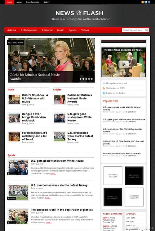 News Flash Premium WordPress Theme