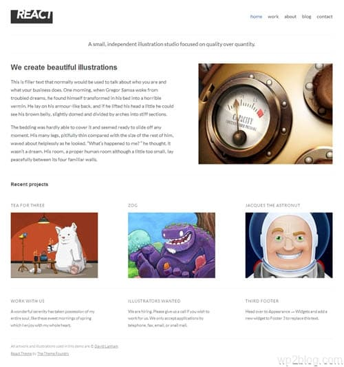 React Premium WordPress Theme