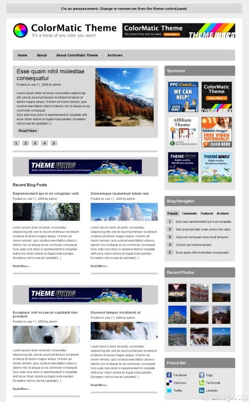 ColorMatic WordPress Theme