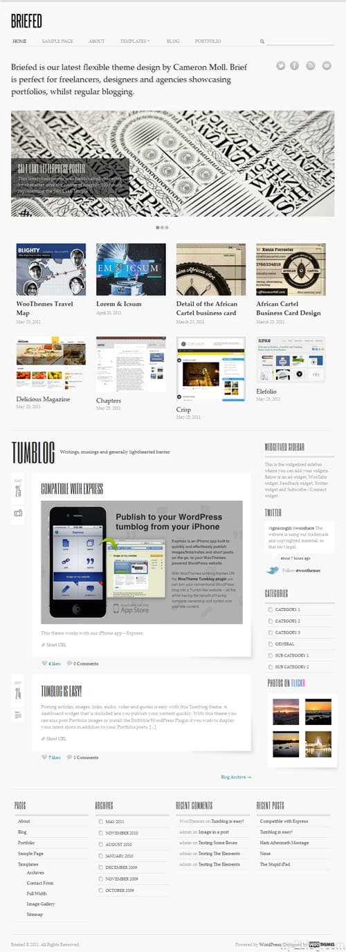 Briefed WordPress Portfolio Theme