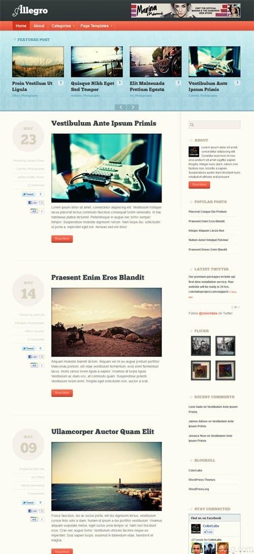 Allegro Premium WordPress Theme