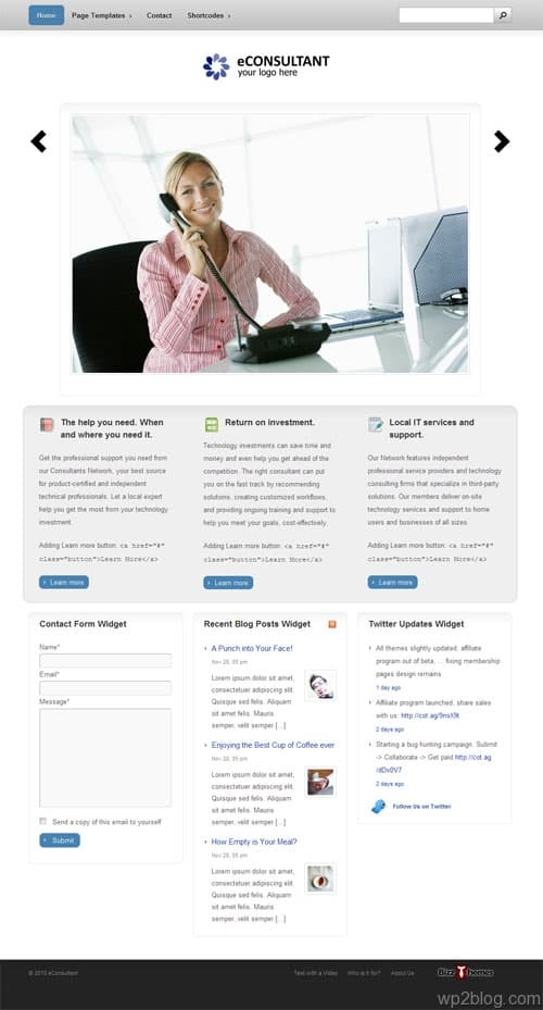 eConsultant Premium WordPress Theme