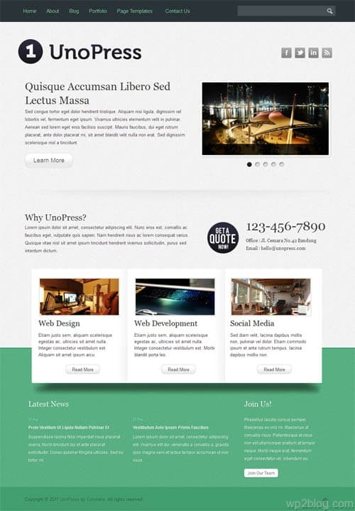 Uno Press WordPress Premium Theme