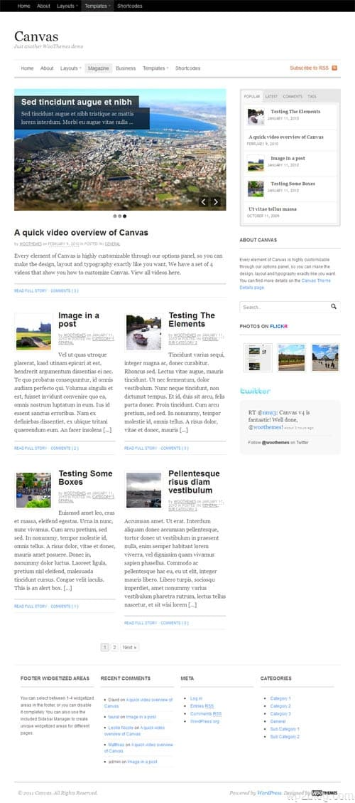 canvas magazine layout