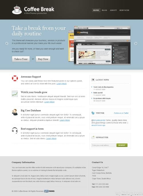 Coffee Break Premium WordPress Theme