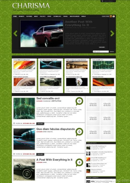 Charisma Premium WordPress Theme