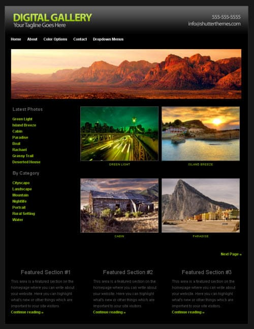Digital Gallery Black WordPress Theme