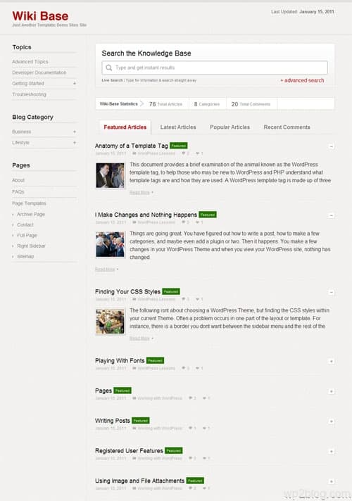 Wiki Base Premium WordPress Theme