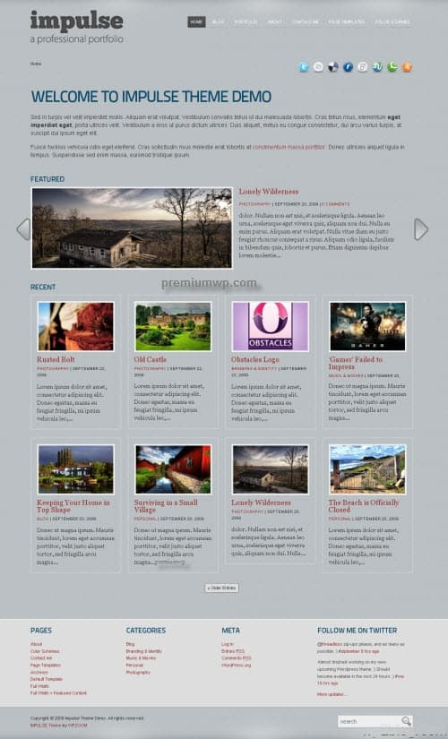 Impluse Premium WordPress Theme