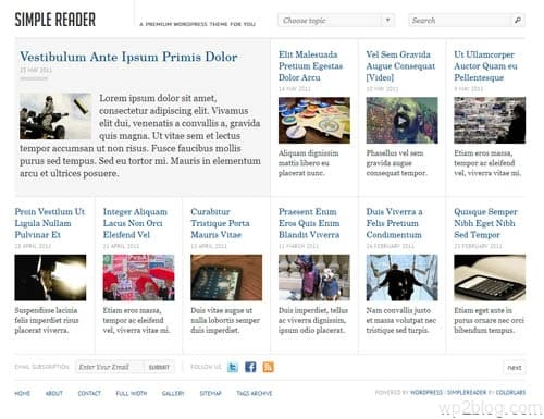 Simple Reader WordPress Theme