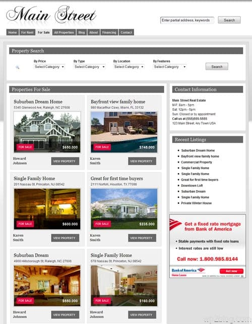 real estate wordpress theme