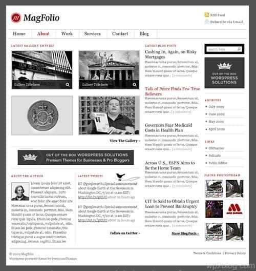 MagFolio: Magazine Portfolio WordPress Theme
