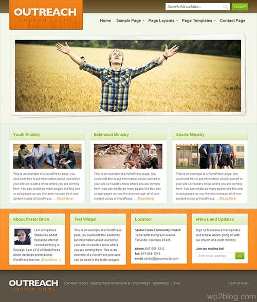 outreach wordpress theme