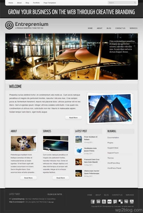 Entreprenium Business WordPress Theme
