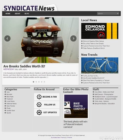 Syndicate News Premium WordPress Theme