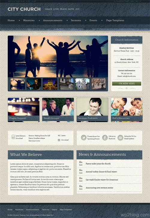 Ezekiel WordPress Church Theme