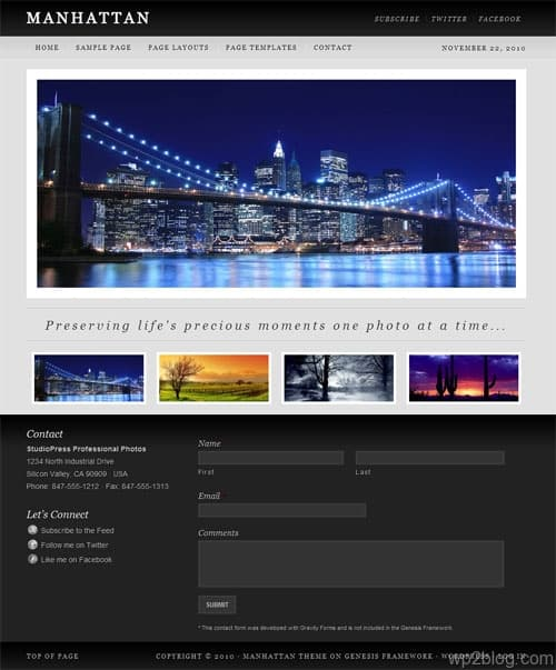 Manhattan Premium WordPress Theme