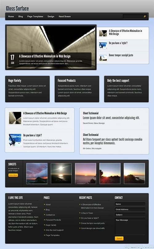 Gloss Surface Premium WordPress Theme