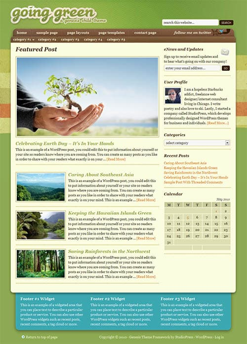 going-green-wordpress-theme