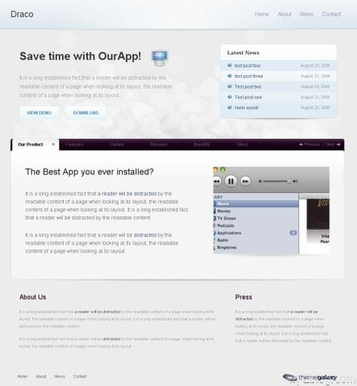 Draco premium wordpress theme