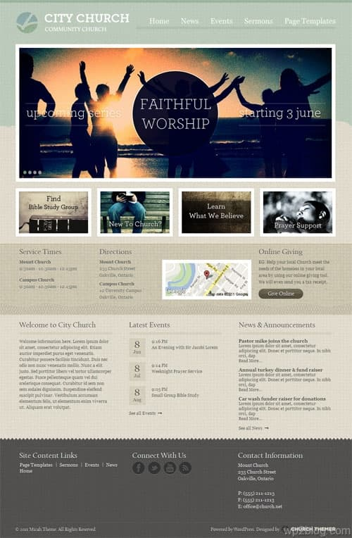 Micah Church WordPress Theme