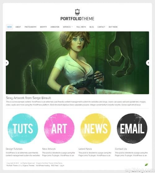 Organic Portfolio 3.0 WordPress Theme