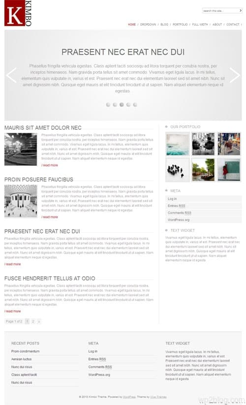 kimbo wordpress theme